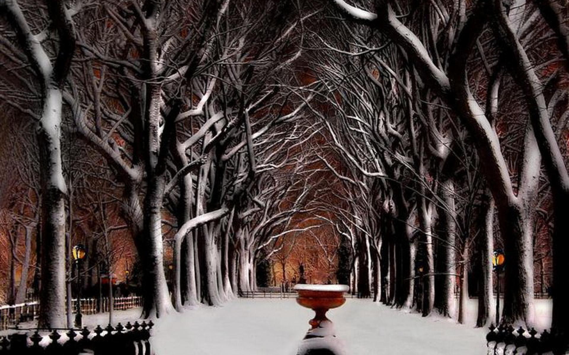 New York City Winter Wallpaper 1920x1200