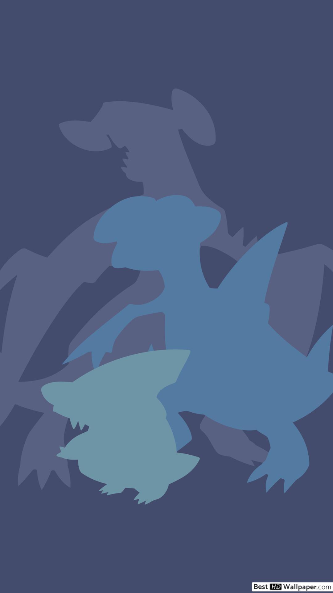 Gabite Garchomp Gible of Pokemon HD wallpaper download 1080x1920