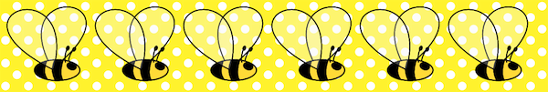 printable bumble bee and bow tags ausdruckbare Biene 600x101