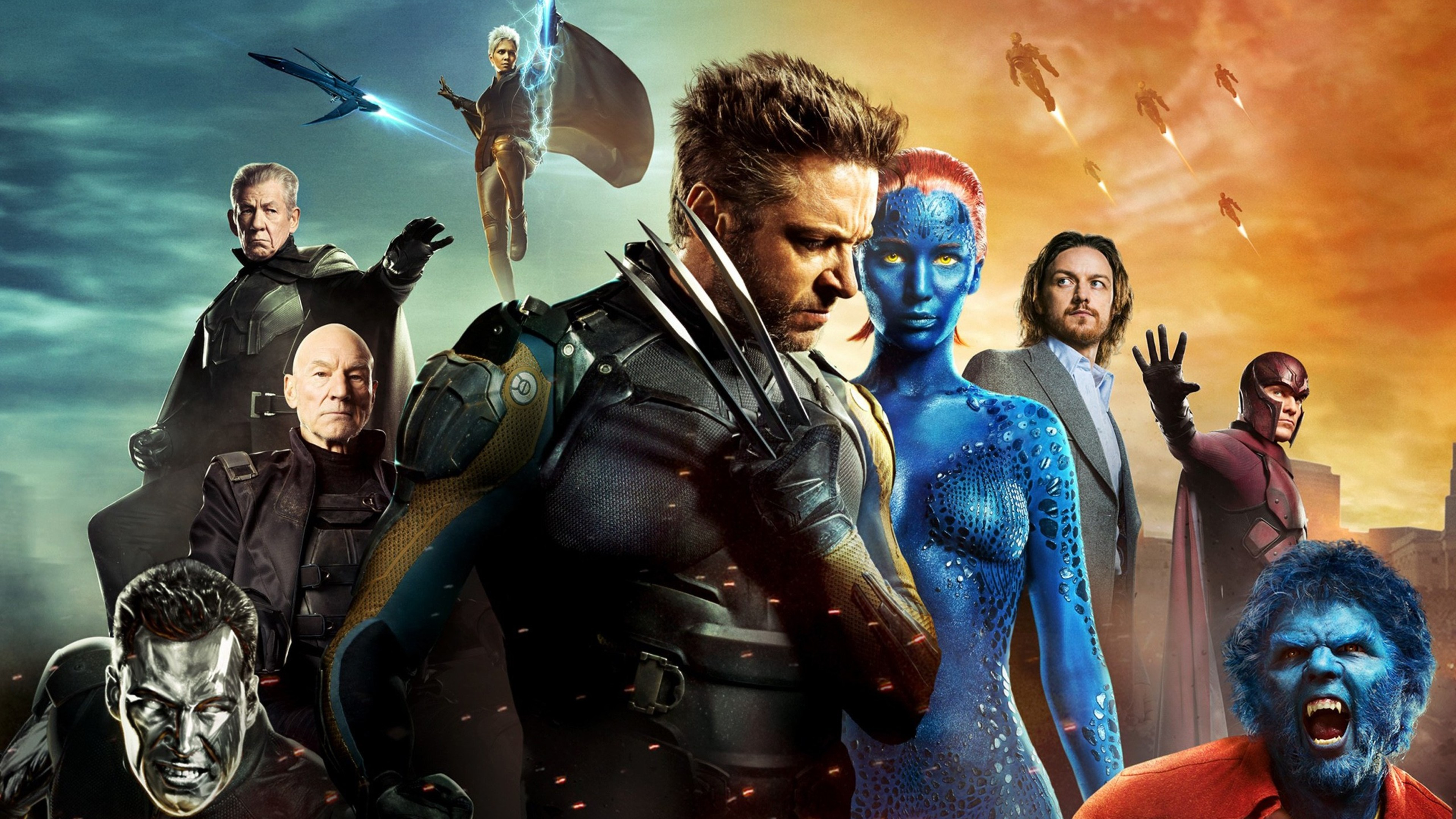 Wallpaper 4k X Men Days Of Future Past Poster movies wallpapers x 3840x2160