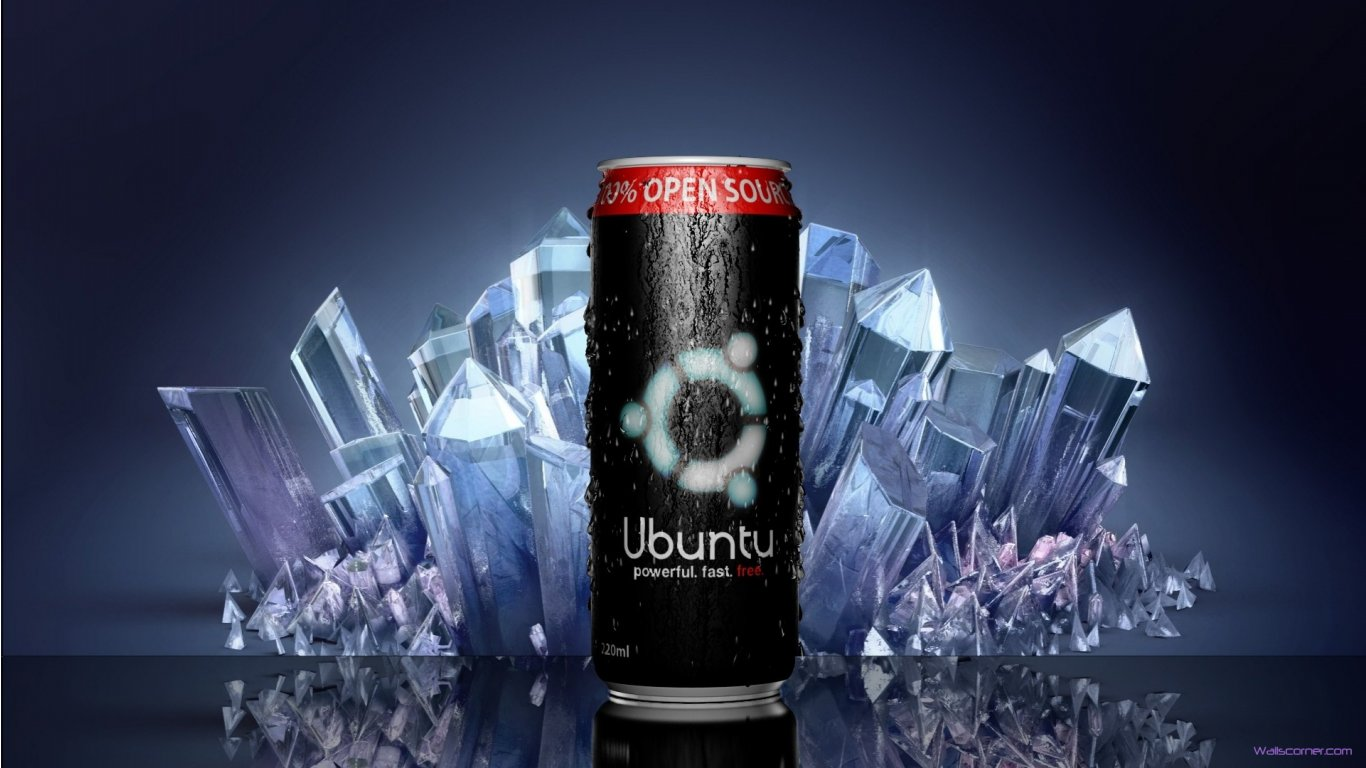 Ubuntu Energy Drink Hd Wallpaper   1366x768 iWallHD   Wallpaper HD 1366x768
