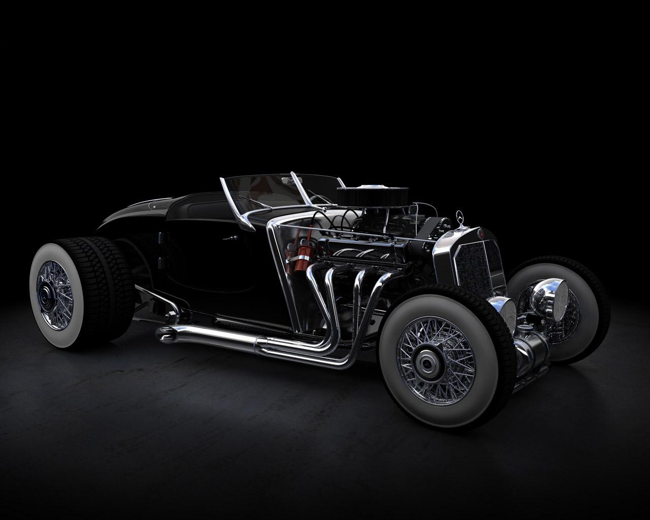 mercedes benz 500k hot rod ii cars hd wallpaper 467835 1280x1024