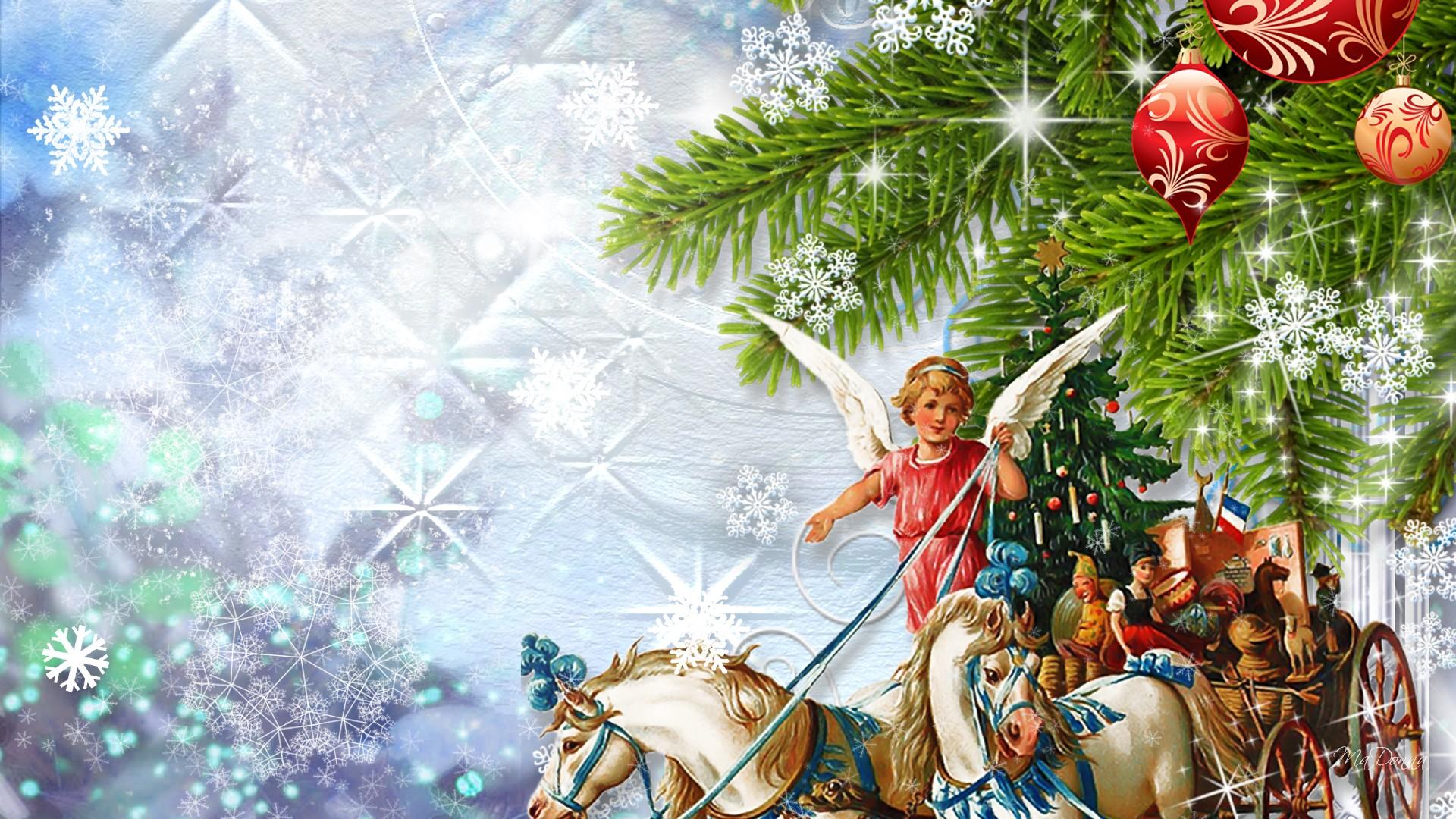 Christmas Angels Wallpaper Sky HD Wallpaper 1920x1080