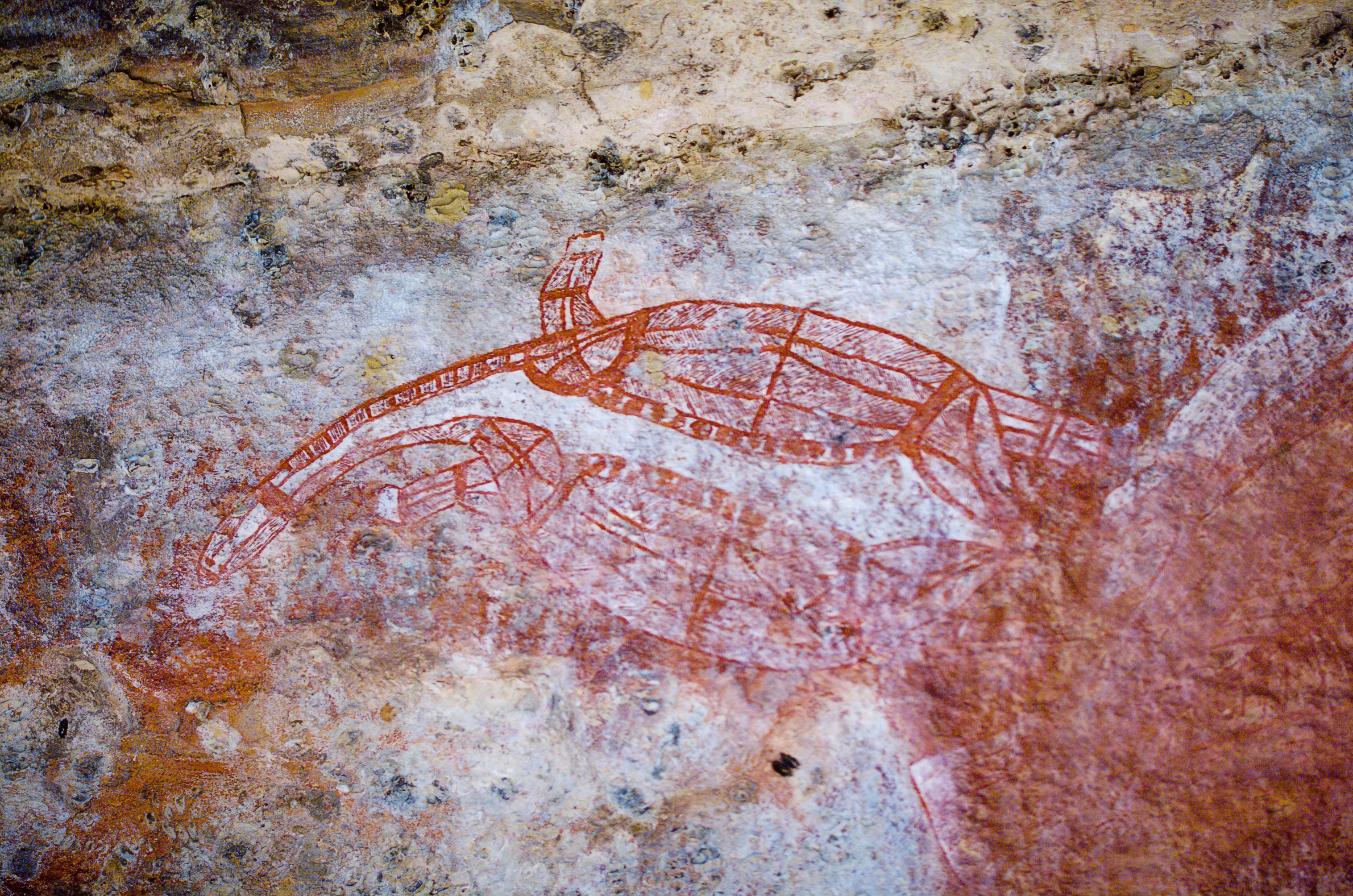 Aboriginal Rock Art   Custom Wallpaper 3032x2008