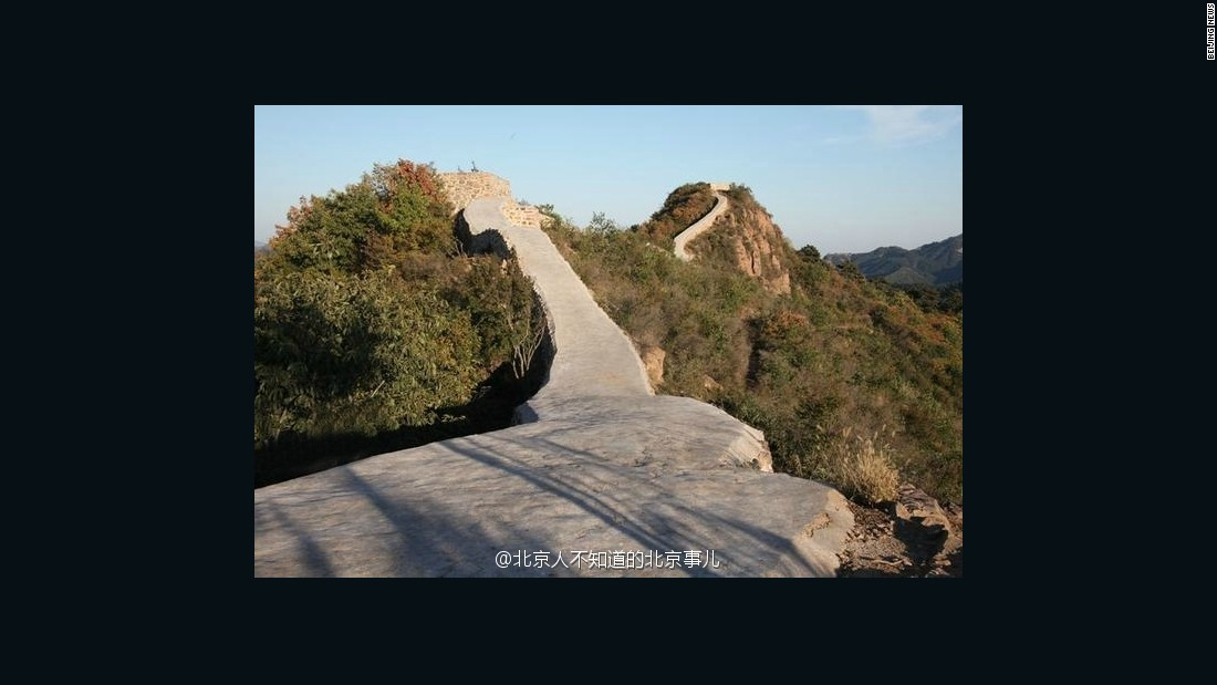 Chinas Great Wall covered in cement CNN Travel 1100x619