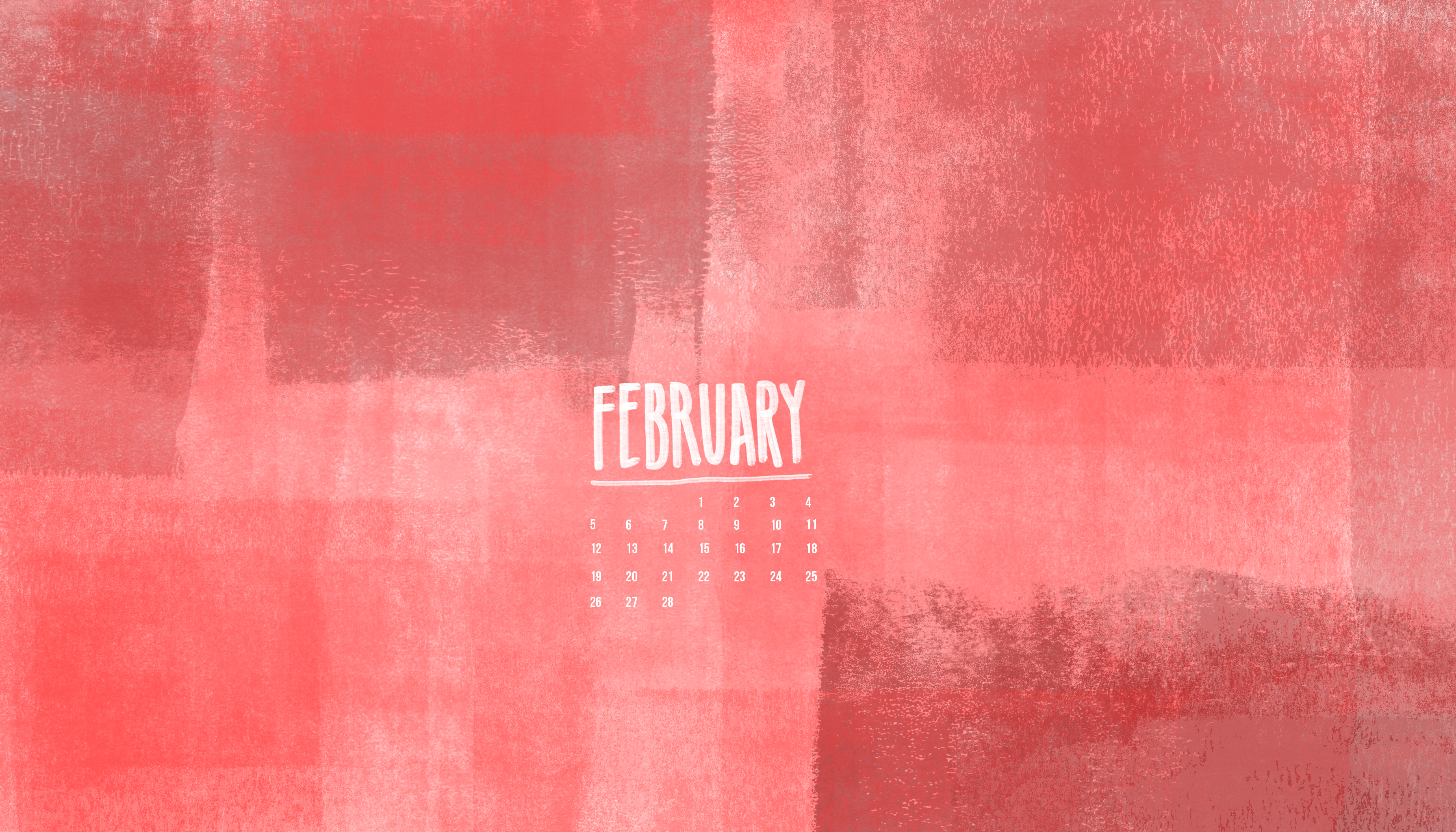 February 2017 Calendars and Wallpaper   Red Stamp 3583x2048