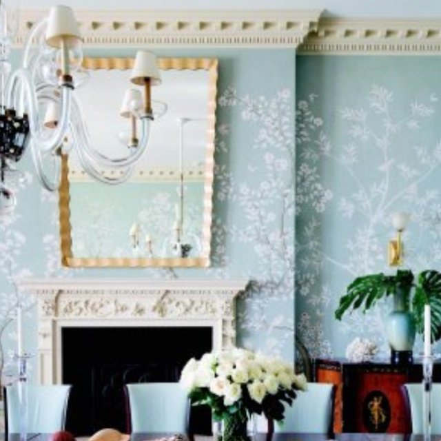 wallpaper and crown molding Wallpapers I love Pinterest 640x640
