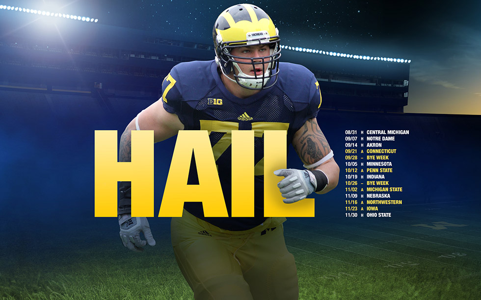 HAIL Part 3 2013 Season Michigan Football Fan Art 980x613