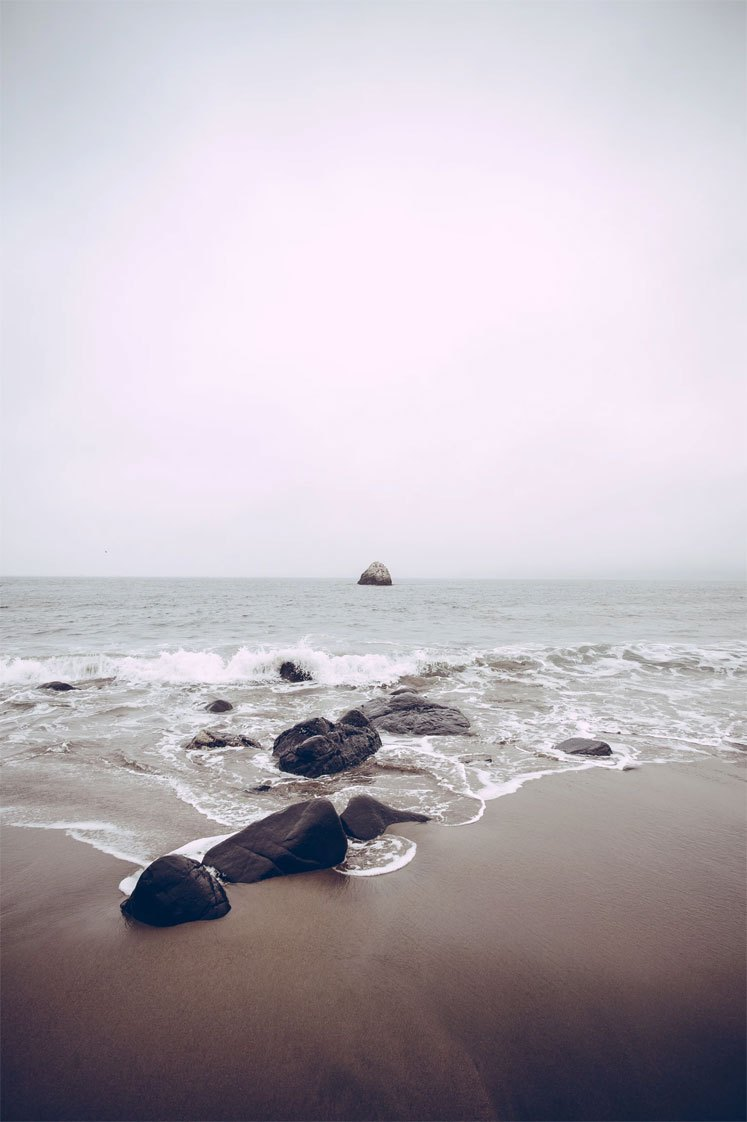 Peace Quiet and Rocks on sea side iPhone wallpaper