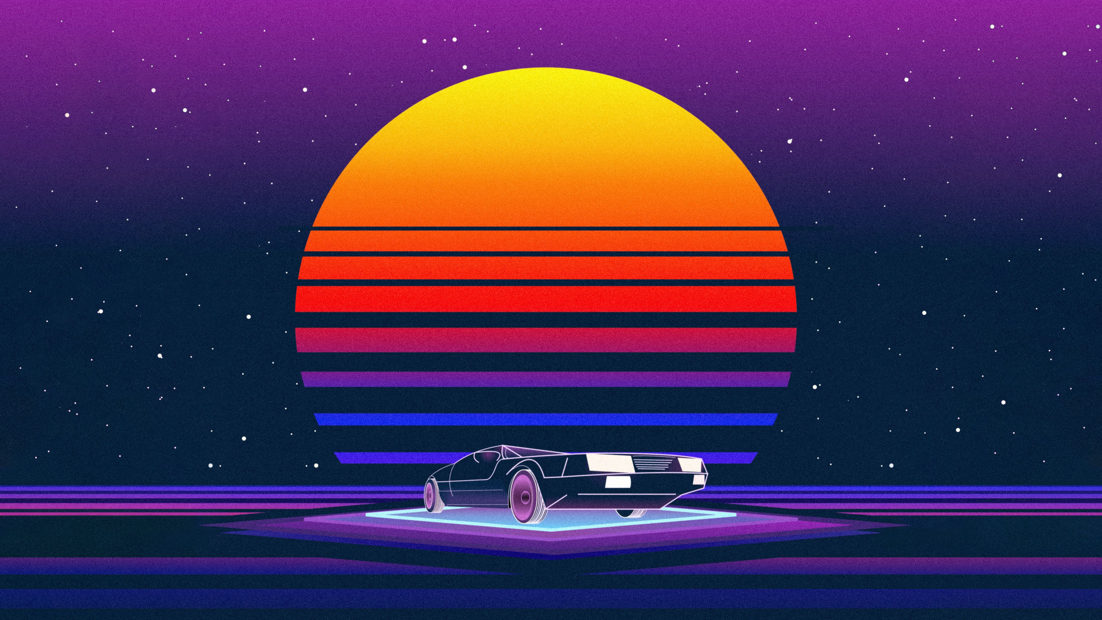 Retro Wave Wallpapers   Top Retro Wave Backgrounds 3688x2075