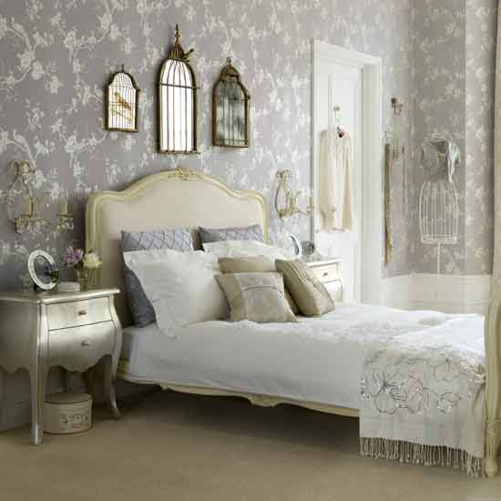 Vintage glamour bedroom Bedroom ideas Wallpaper housetohomeco 550x550