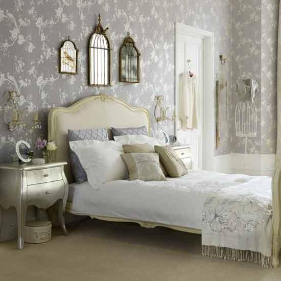 Vintage glamour bedroom Bedroom ideas Wallpaper housetohomeco 550x550