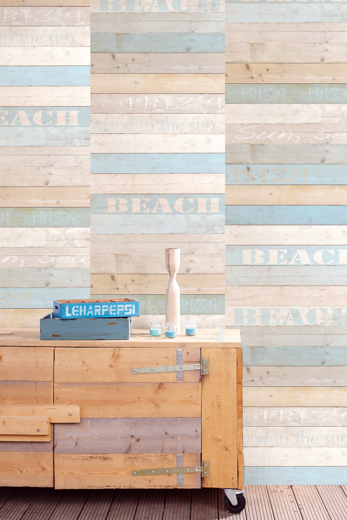 Chic Beach Wood Wallpaper Mural Gives Your Walls a Fresh Look 1200x1800