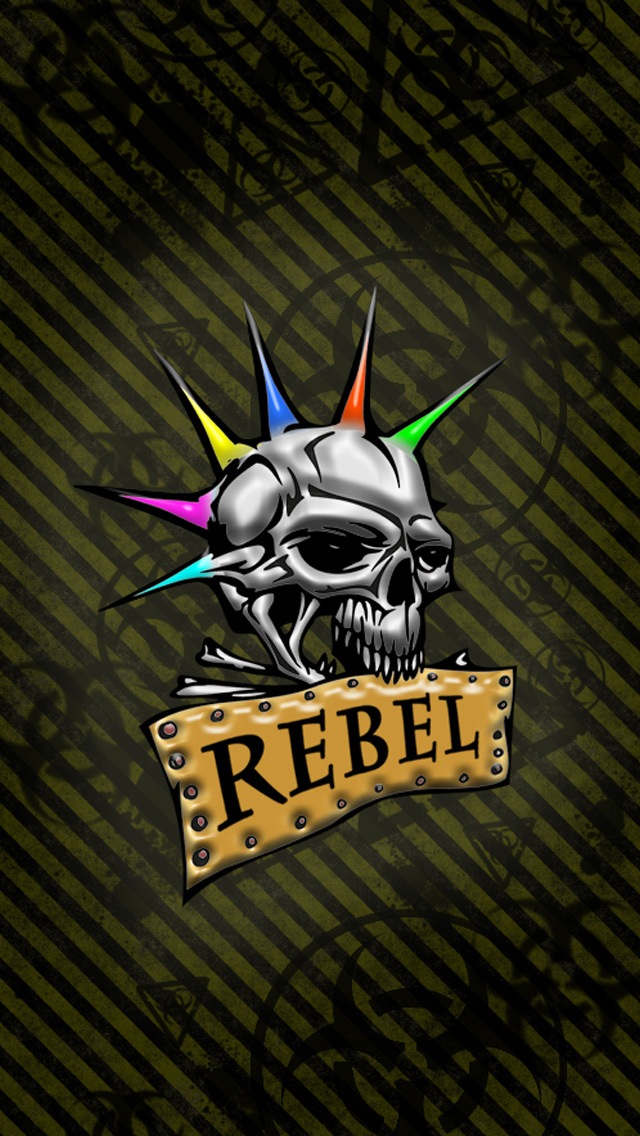 Rebel Skull Wallpaper   iPhone Wallpapers 640x1136