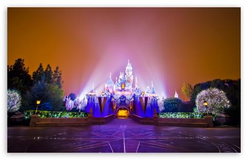 Disneyland Castle Christmas HD wallpaper for Standard 43 54 510x330