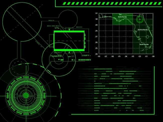Hackerish High Tech Military Style Computer Screen [Wallpaper] 650x488