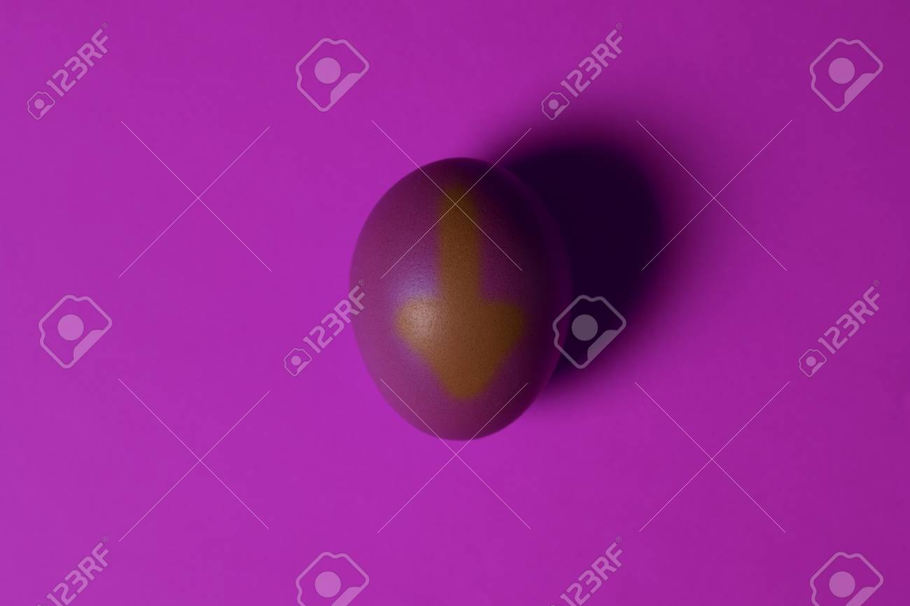 Minimalism One Purple Egg In The Center Of The Image On A UV 1300x866