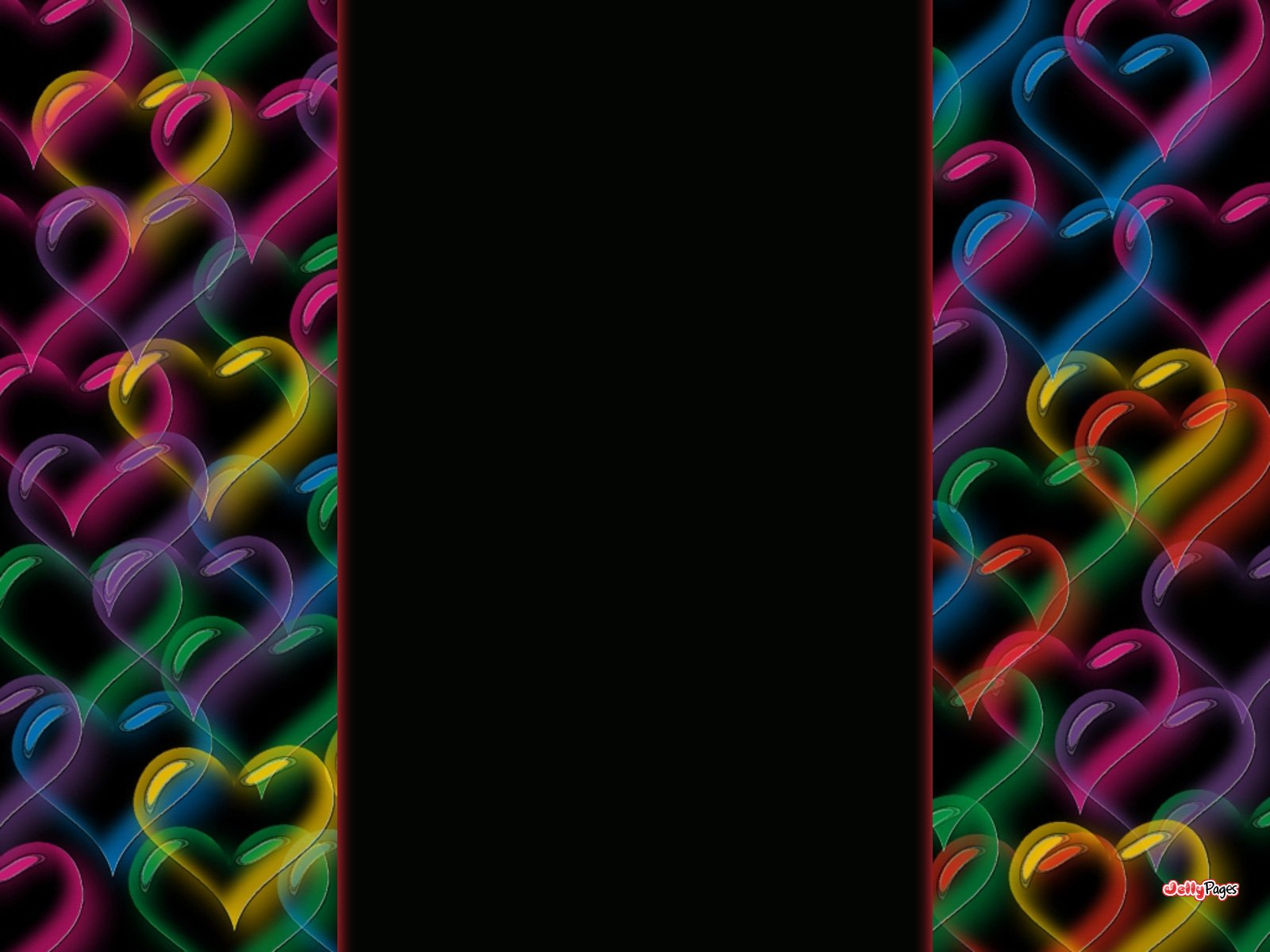 Neon Hearts Blogger Layout Template Blog Background Jelly Pages 1600x1200