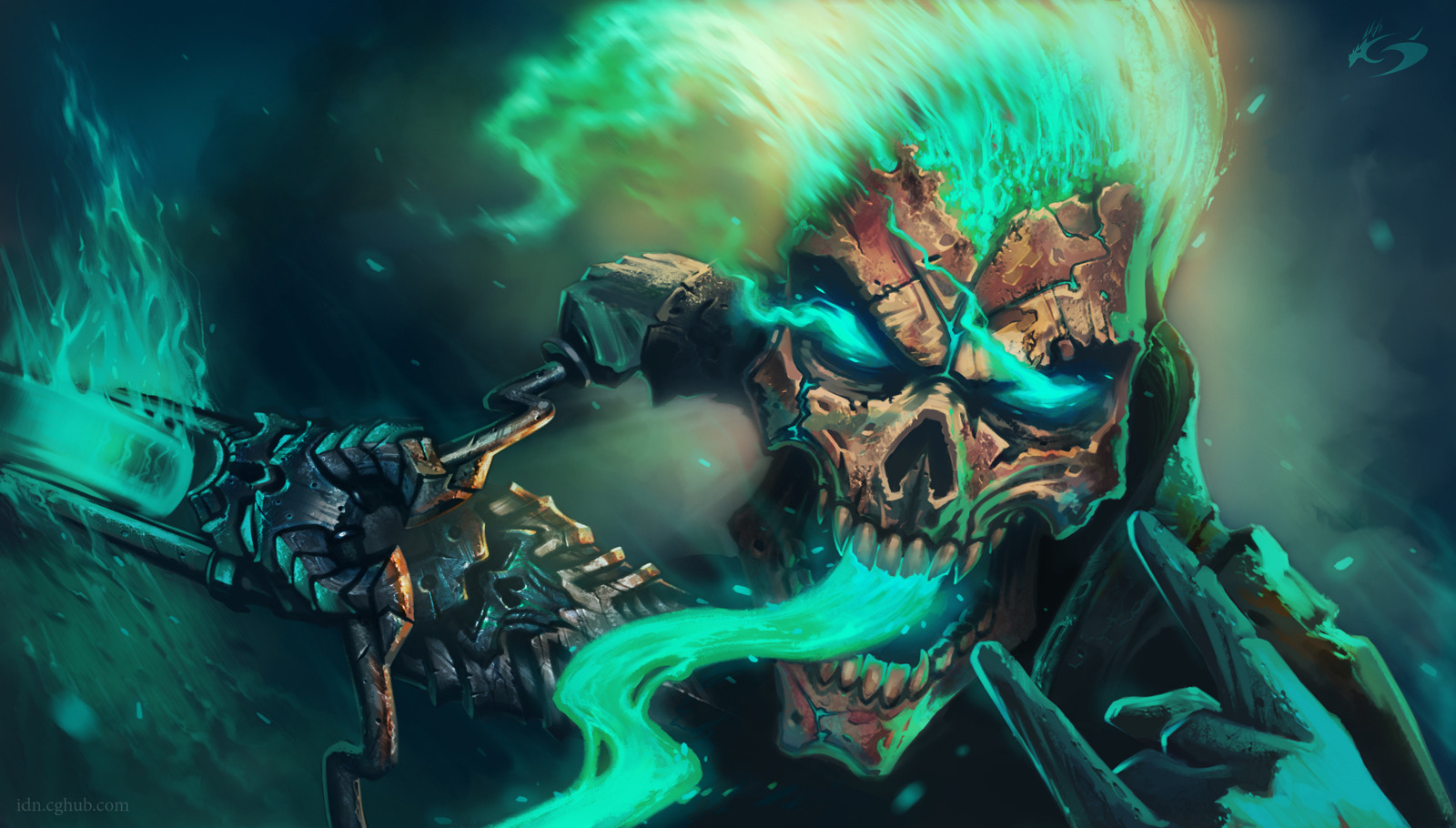 Cool Painting Skull Wallpaper Desktop Wallpaper WallpaperLepi 1600x910