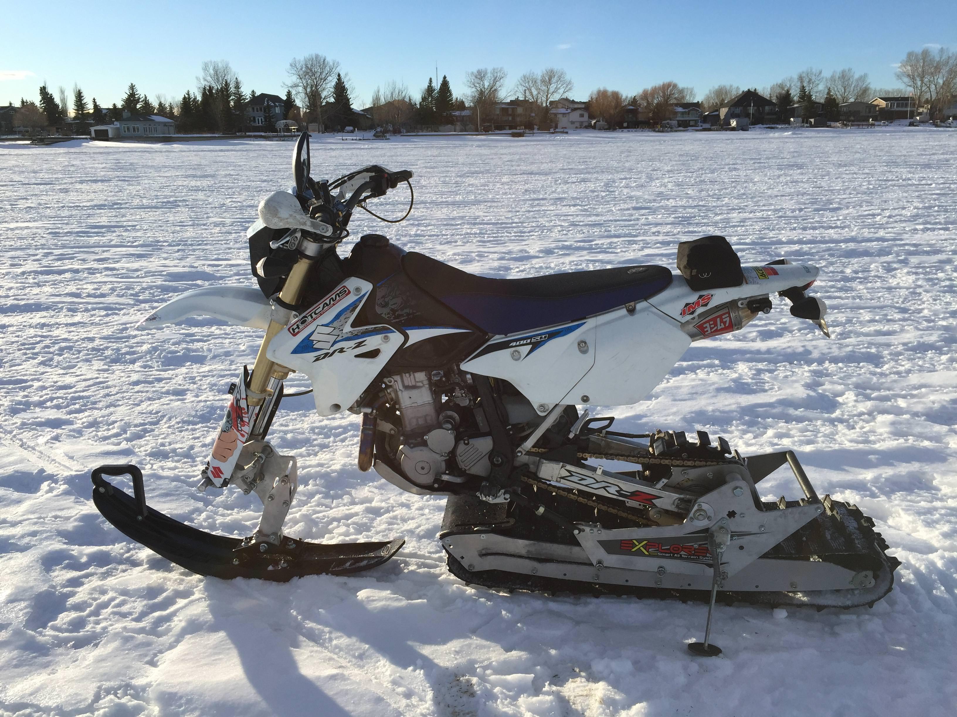 Snow bike AD Boivin Explorer kit on 13 Suzuki DRZ400 SM   Album 3264x2448