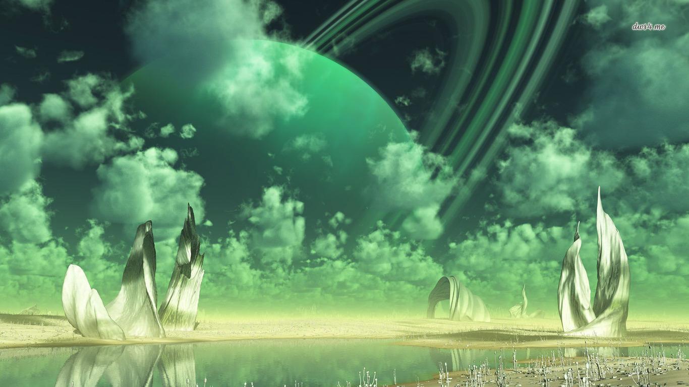 Alien planet wallpaper   Fantasy wallpapers   27170 1366x768