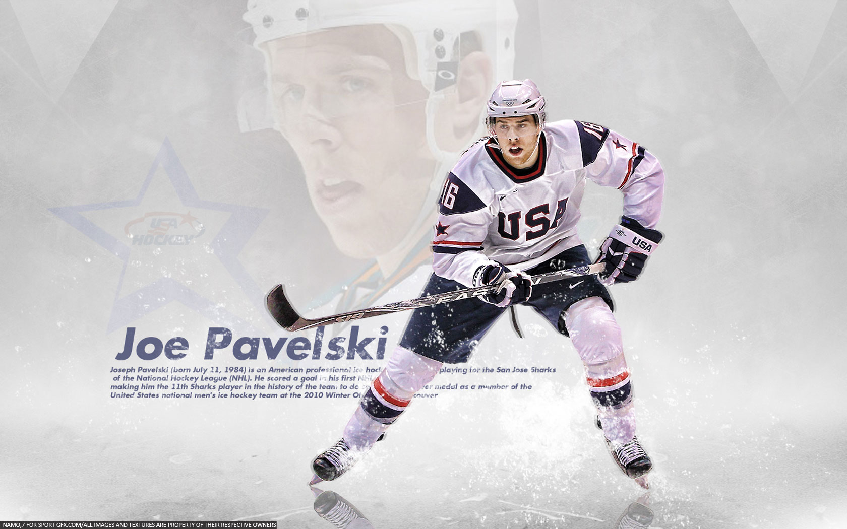 NHL Wallpapers   Joe Pavelski USA Team 1680x1050 wallpaper 1680x1050