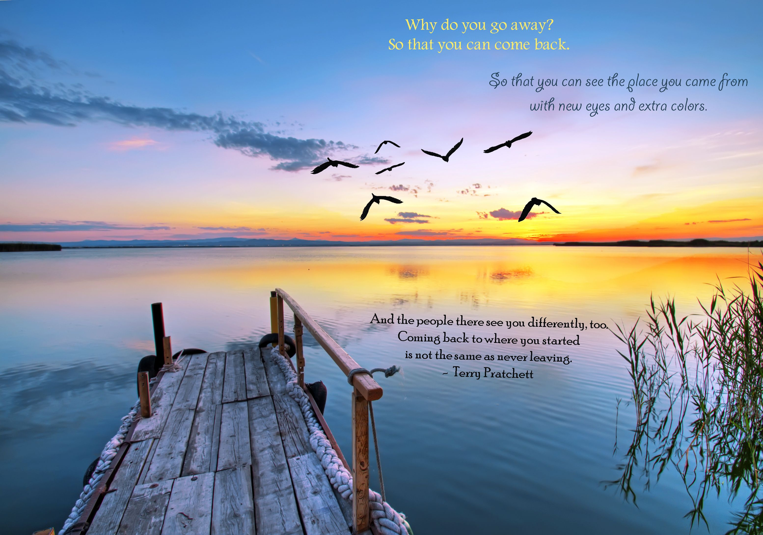 Quote by Terry Pratchett Travel Quotes Wall murals Landscape 3108x2181