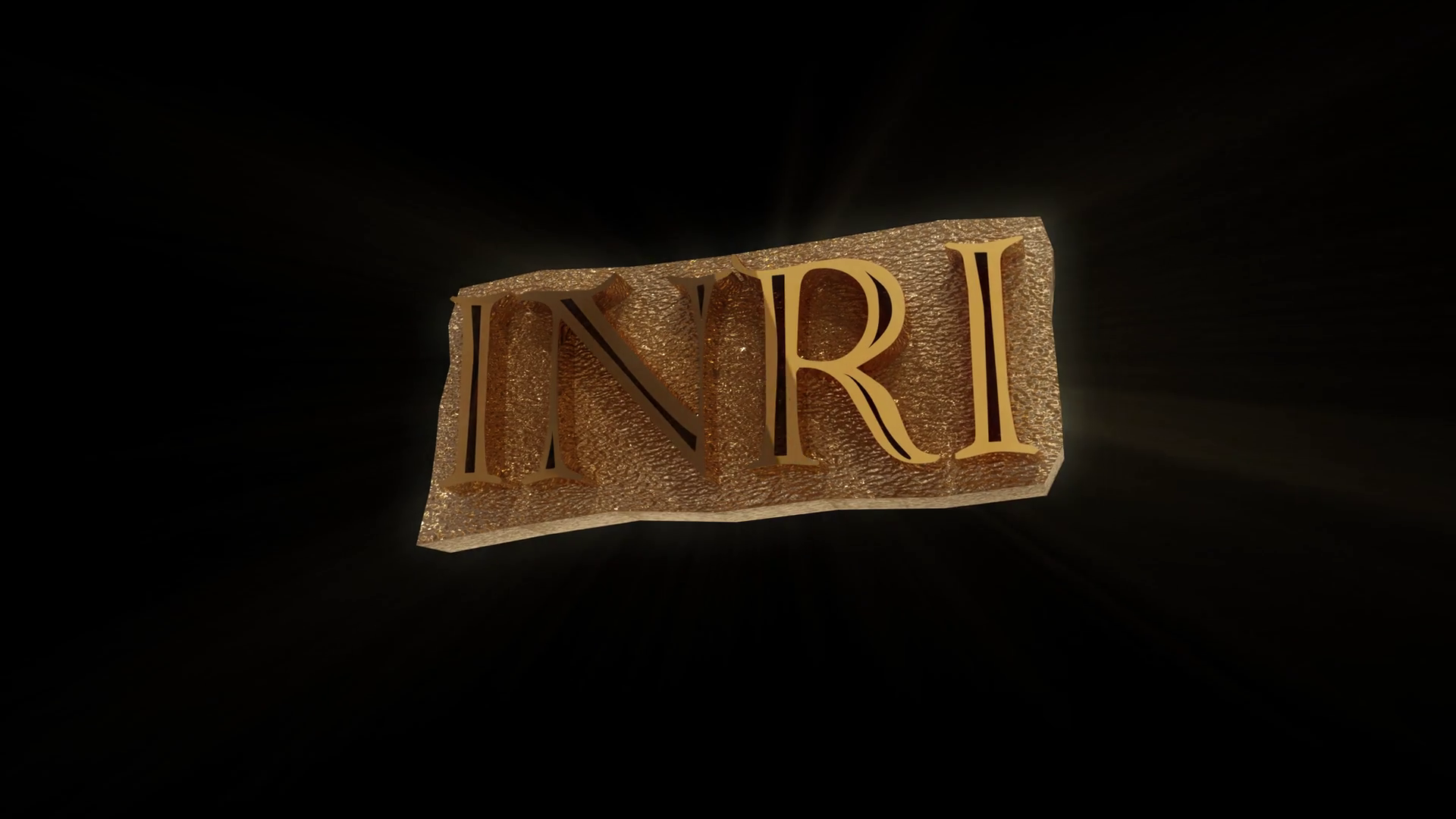 3d loop of Christian Symbol Letters INRI Motion Background 1920x1080