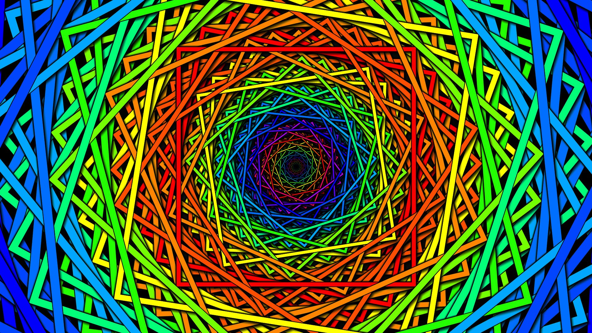 Multicolor spiral psychedelic geometry wallpaper 1920x1080 323673 1920x1080