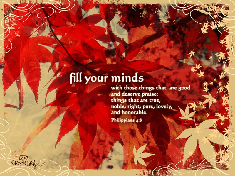 Fill Your Minds Desktop Wallpaper   Scripture Verses Backgrounds 800x600