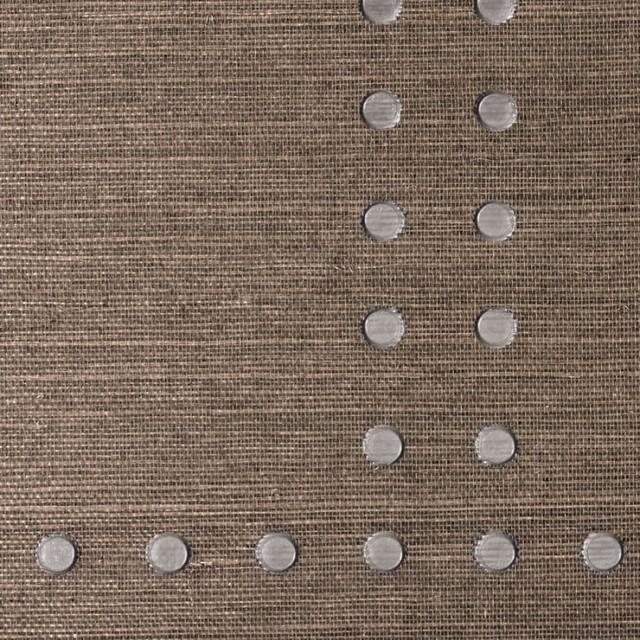 Navy Grasscloth Wallpaper And Gold Rivets Mirror: Rivet Wallpaper Phillip Jeffries