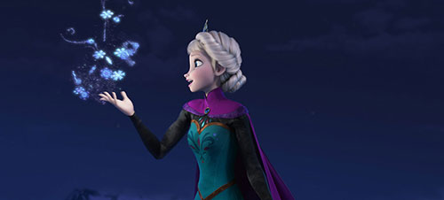 Frozen Movie Elsa Magic HD Wallpaper 500x226