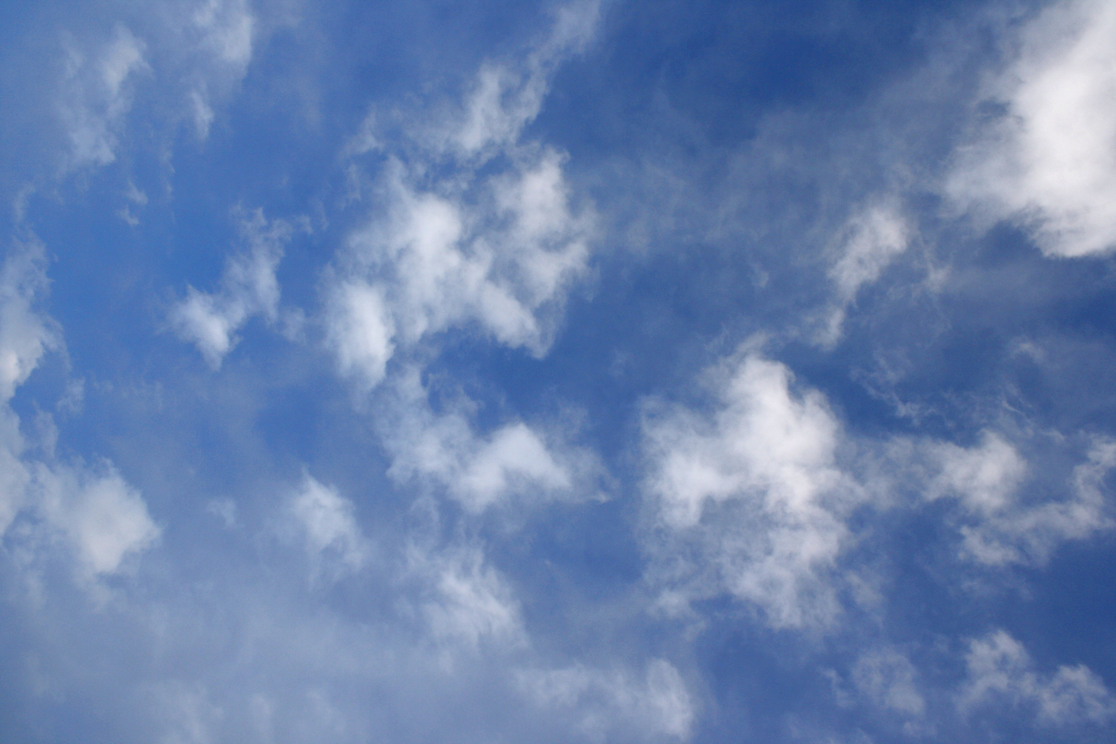 Blue Sky with White Clouds Texture Picture Photograph Photos 3888x2592