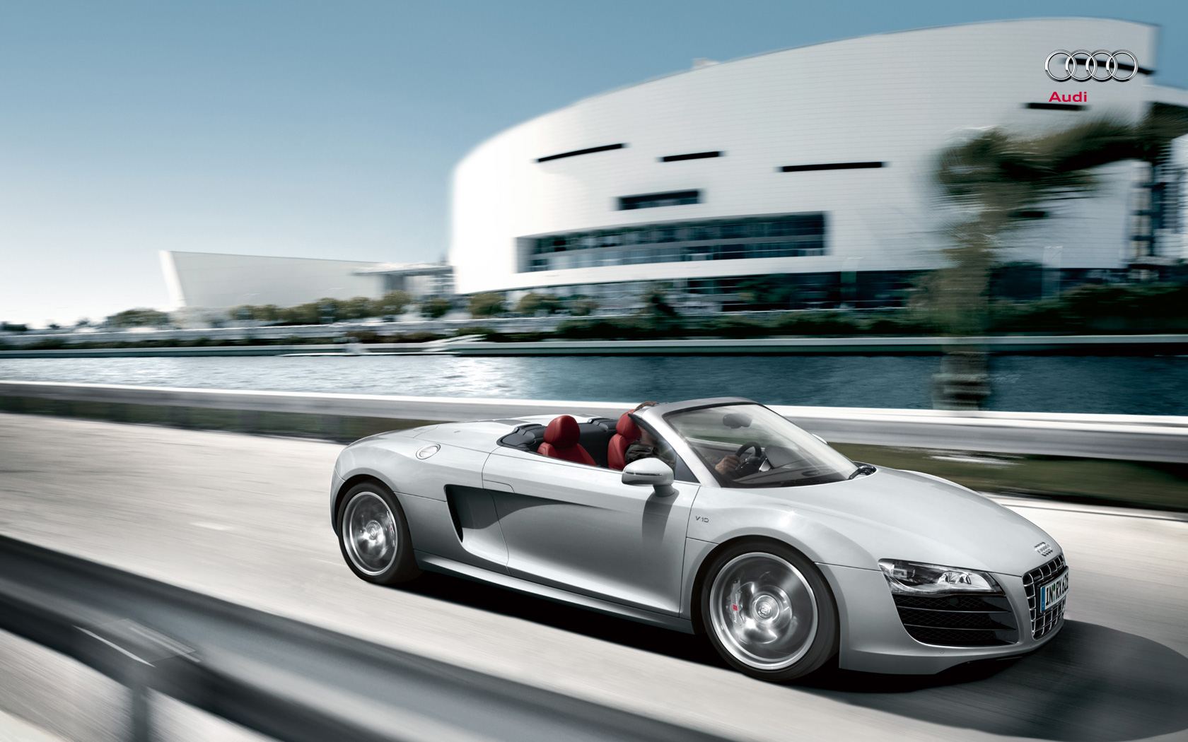 Audi R8 Spyder 2015 HD Wallpaper Background Images 1680x1050