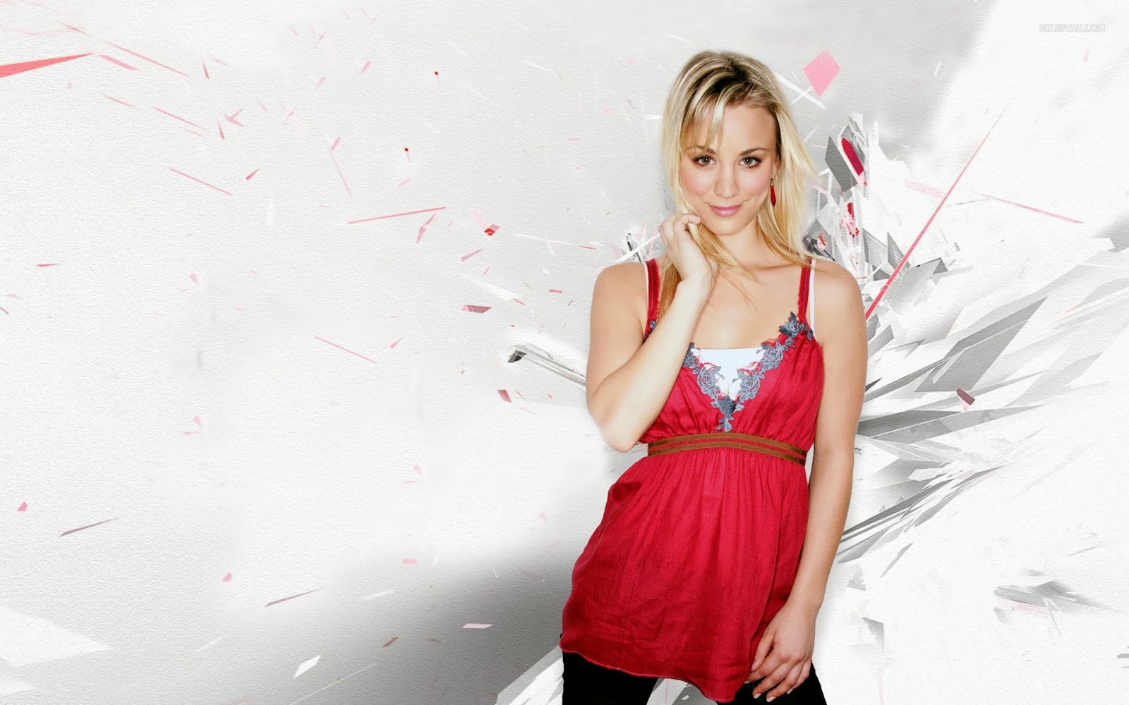 Kaley Cuoco 720p Background Wallpapers   HD Wallpapers Window Top 1600x1000