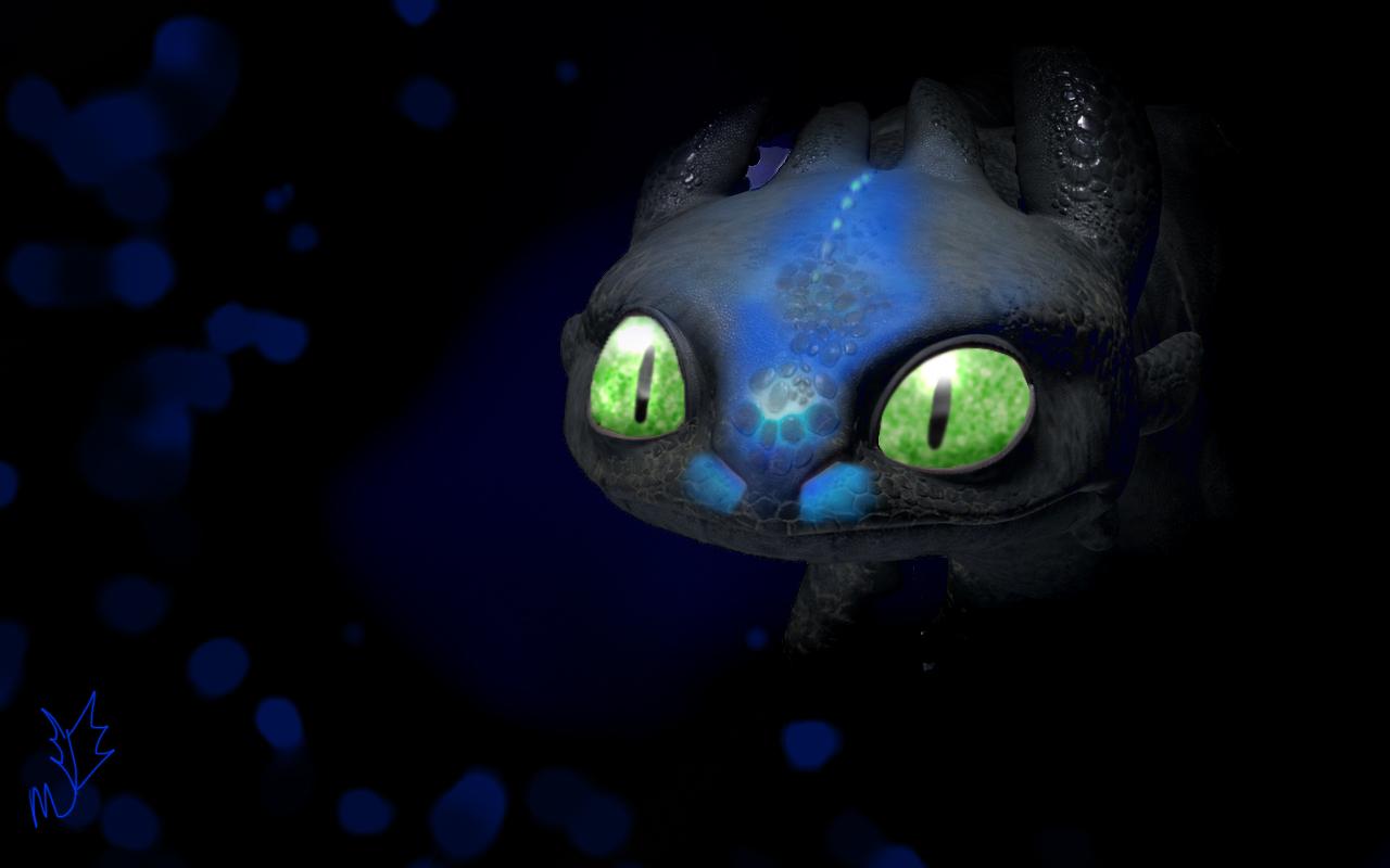 Alpha Toothless by KawaiiRaichu 1280x800