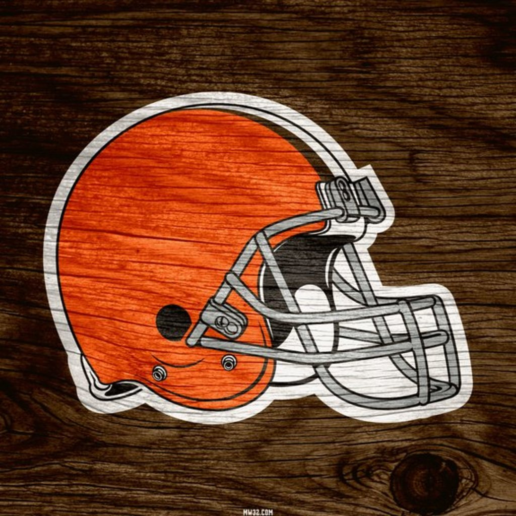 Cleveland Browns Helmet Weathered Wood Wallpaper for Apple iPad 3 1024x1024