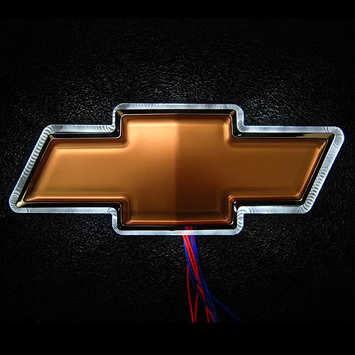 LED For Chevrolet Logo White Graphics Code LED For Chevrolet Logo 500x500