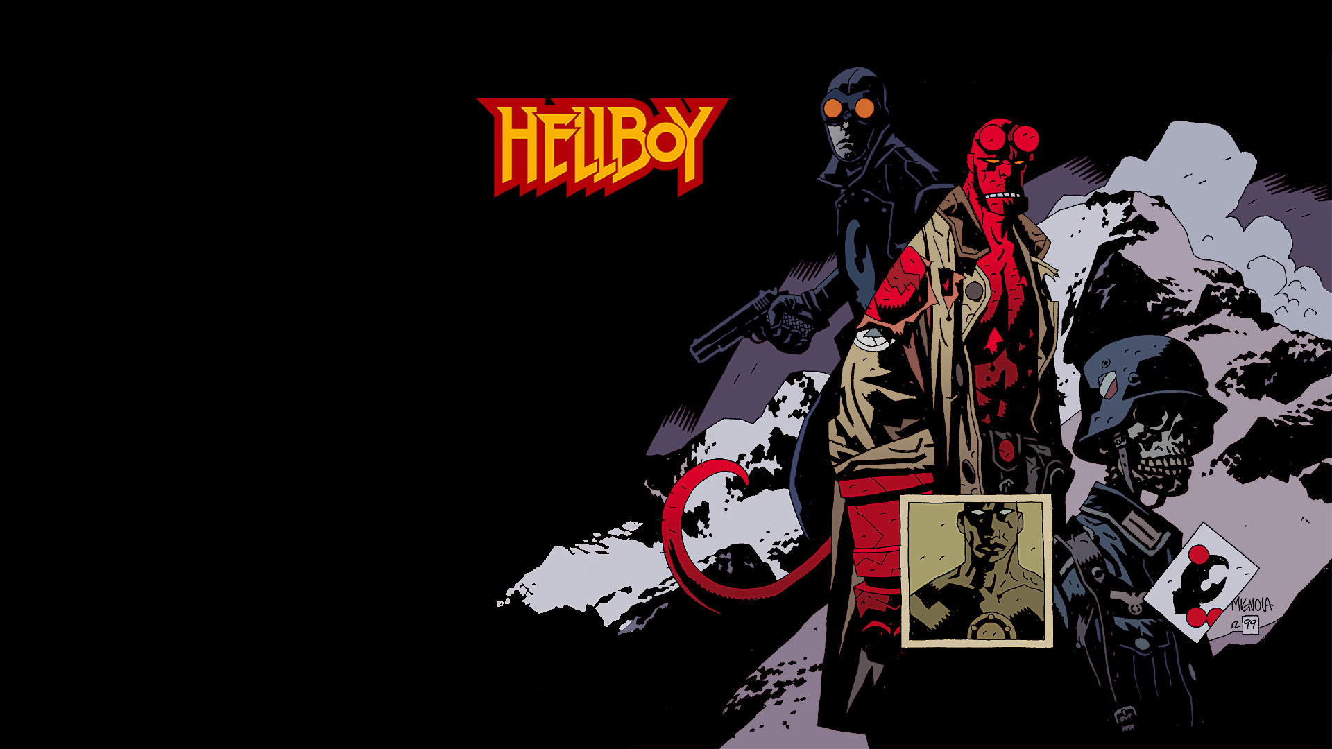 Artistic Hellboy Wallpapers Artistic Hellboy Myspace Backgrounds 1920x1080