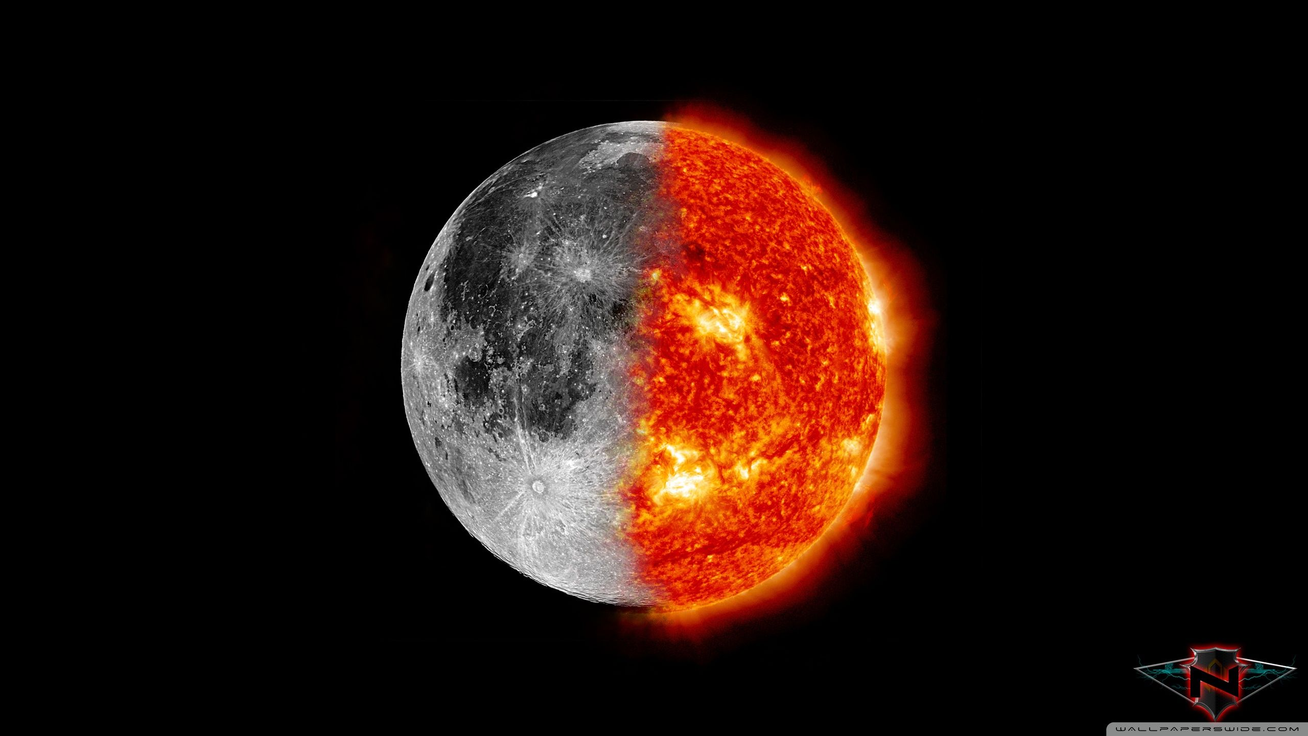 Sun and Moon Wallpapers   Top Sun and Moon Backgrounds 2560x1440