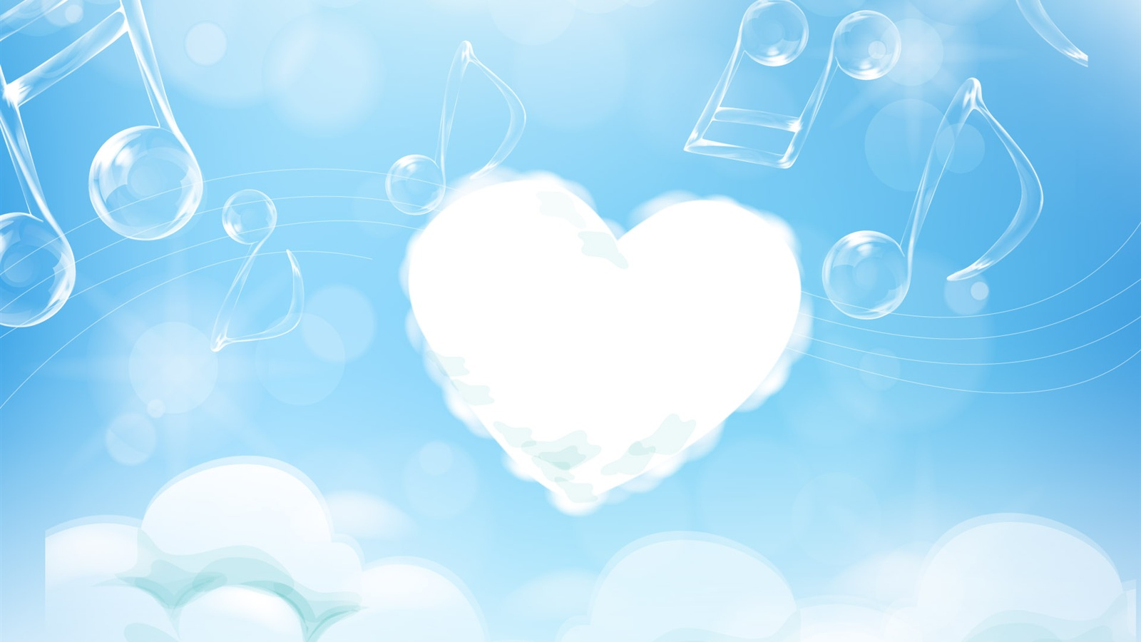 3d love with clouds wallpaper wallpaper for desktop Amazing 1600x900