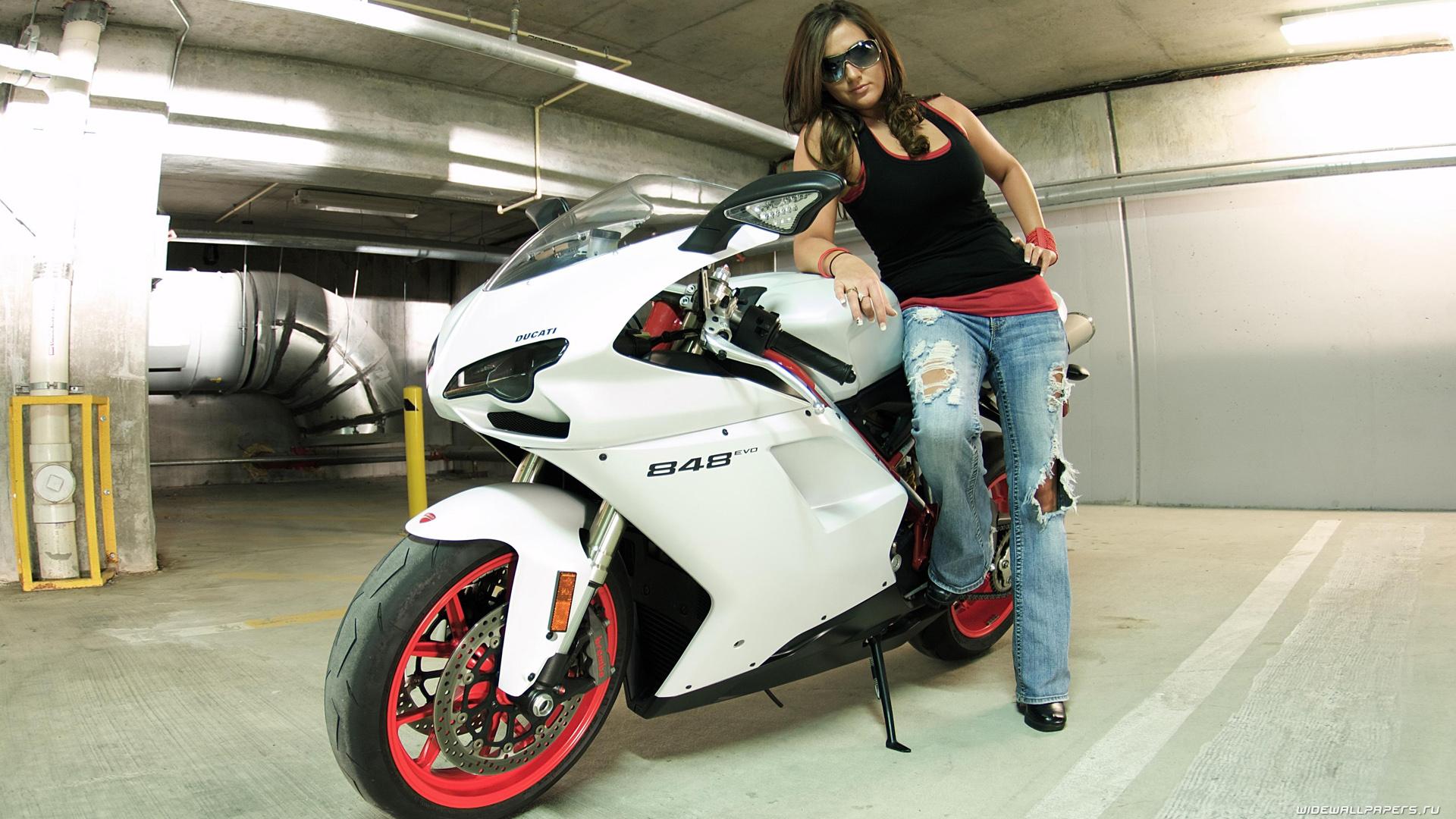 Motorcycle Wallpaper Girl Hd