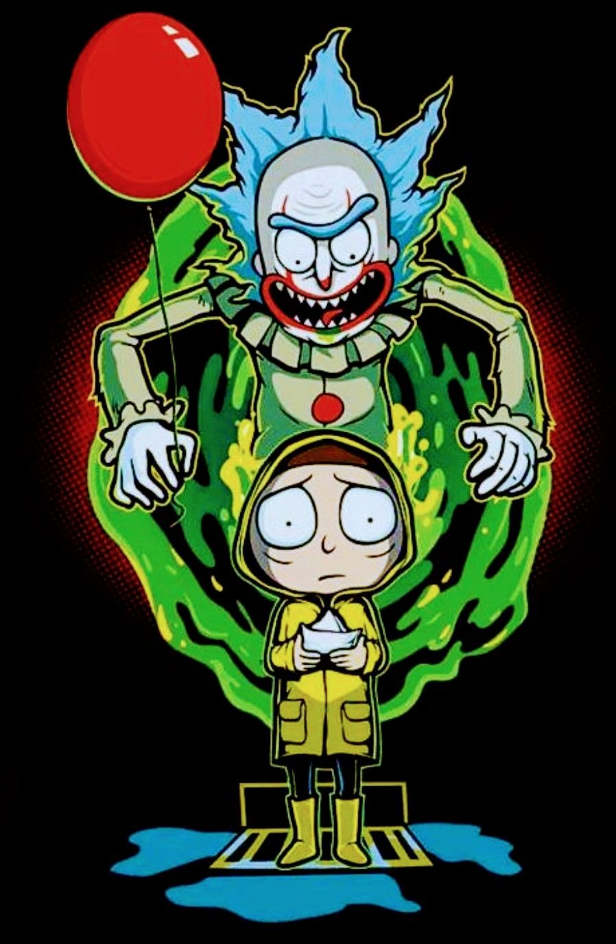 Rick and Morty x Pennywise RICK AND MORTY Rick morty 898x1376