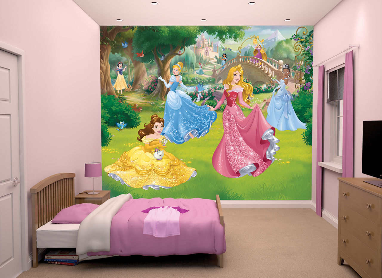 Details about NEW Disney Princess Walltastic Wallpaper Mural for Kids 1280x932