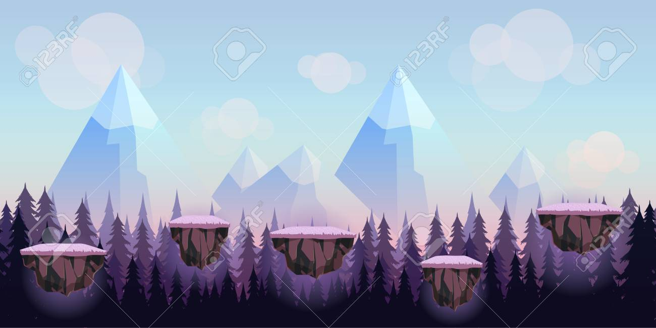 Cartoon Game Background Seamless Background For Games Mobile 1300x650