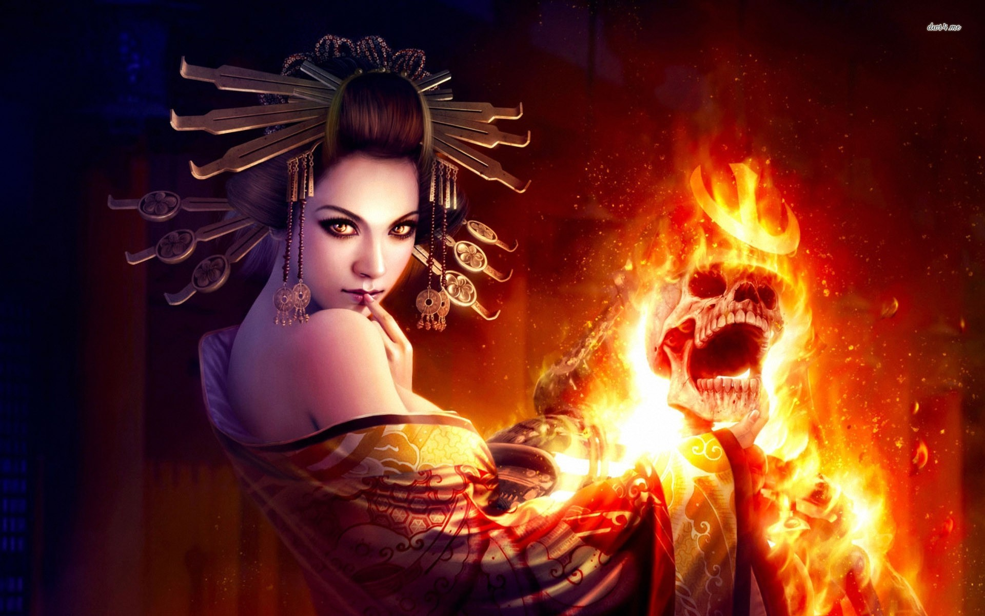 Deadly geisha wallpaper   Fantasy wallpapers   21553 1920x1200