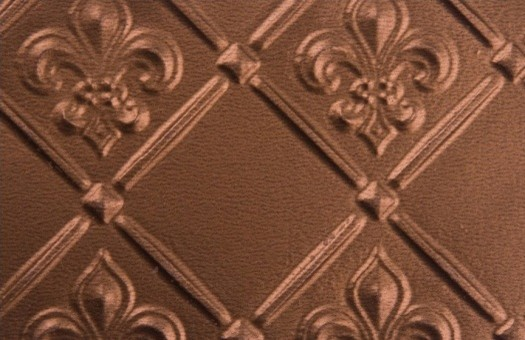 Tin   Backsplash Roll   Fleur de Lis   3 Pattern   Copper wallpaper 525x340