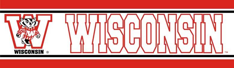 Wisconsin Badgers Wallpaper Border 778x227
