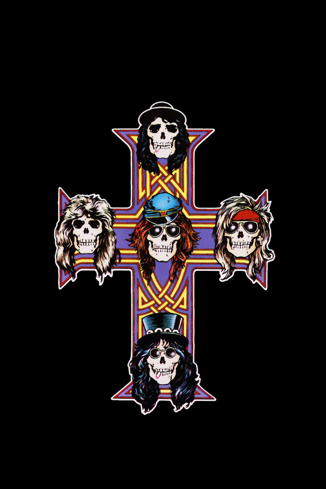 Guns n roses iphone wallpaper wallpapersafari - Wallpaper guns and roses ...