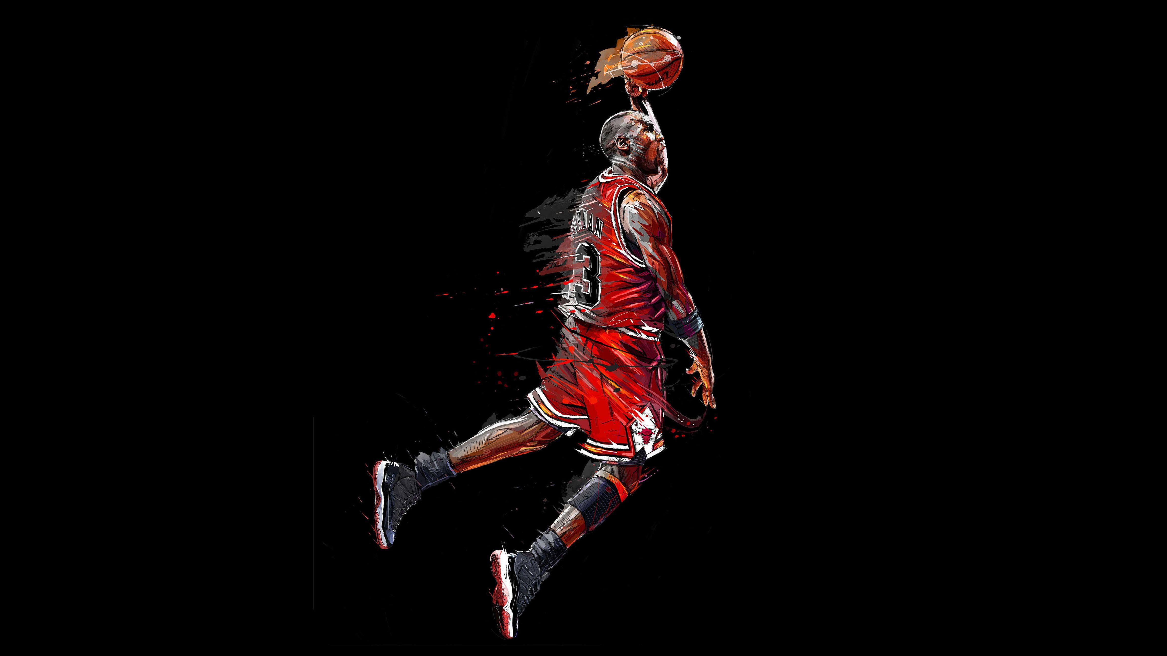 4K Basketball player Chicago Bulls Michael Jordan 4K wallpaper 4604x2590